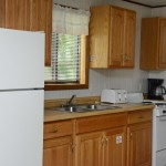 kitchen counter with window over sink