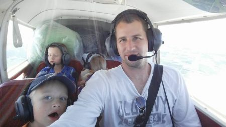 Joe taking his boys on a little flight
