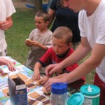 Children making smores at Riverside